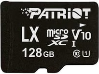128GB microSDXC Patriot V10, class 10 U1 až 80MB/s + adapter