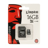 Kingston Micro SD HC memory card 16GB class 10 with SD adapter