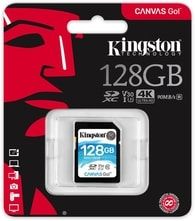 128GB SDXC Kingston Canvas Go U3 V30 90R/45W